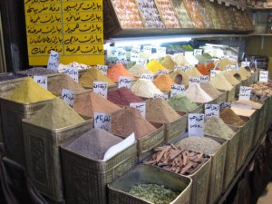 Spice shop in Suq al-Hamidiye, Damascus