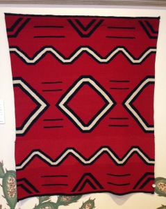 Textile (1860-70), Unknown artist, Navajo. Heard Museum collection.