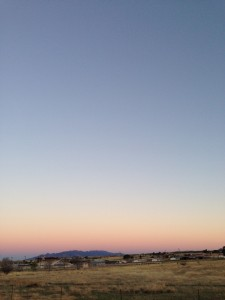 Dusk outside Sonoita.
