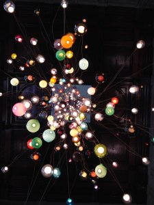 """28.280"" (2014), chandelier designed by Omer Arbel for Bocci. Main hall of V&A."
