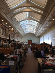 Library processing area, V&A.