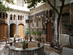 Courtyard at Beit al Mamlouka, Damascus