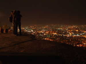 Night view over Damascus, from Mount Qasioun