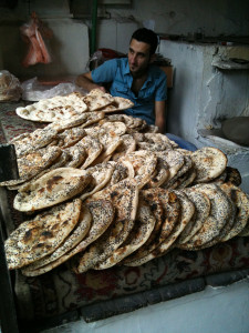 Bread vendor, Damascus suq