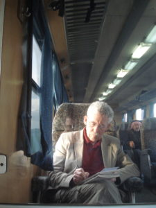 On the Homs to Aleppo train.